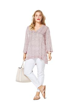 Patron Burda Blouse tee-shirt - encolure en V - manches 3/4