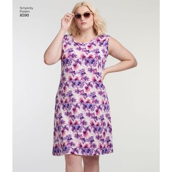 Patron Simplicity 7052 Robes grandes tailles