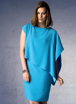 Patron Vogue 1373 Robe femme fourreau Cape