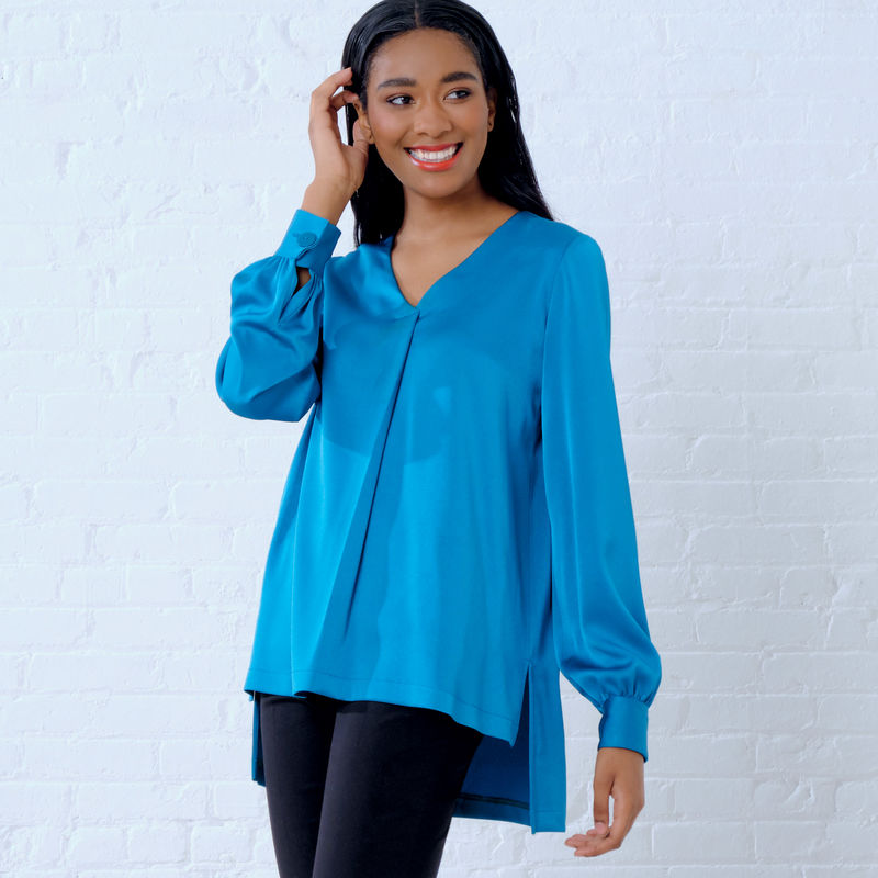 Patron New Look 6637 Top femme blouse ample