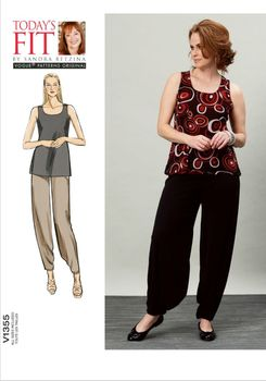 Patron Vogue 1355 Ensemble femme Top & Pantalon décontracté