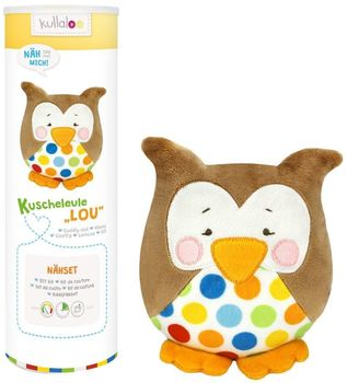 Kit couture peluche Doudou Hibou LOU marron