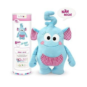 Kit couture peluche Doudou Alien B-DAY BIBS bleu