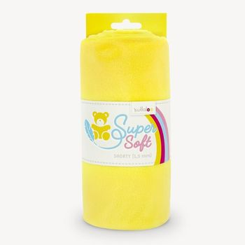 Coupon Tissu Peluche Minky SHORTY jaune