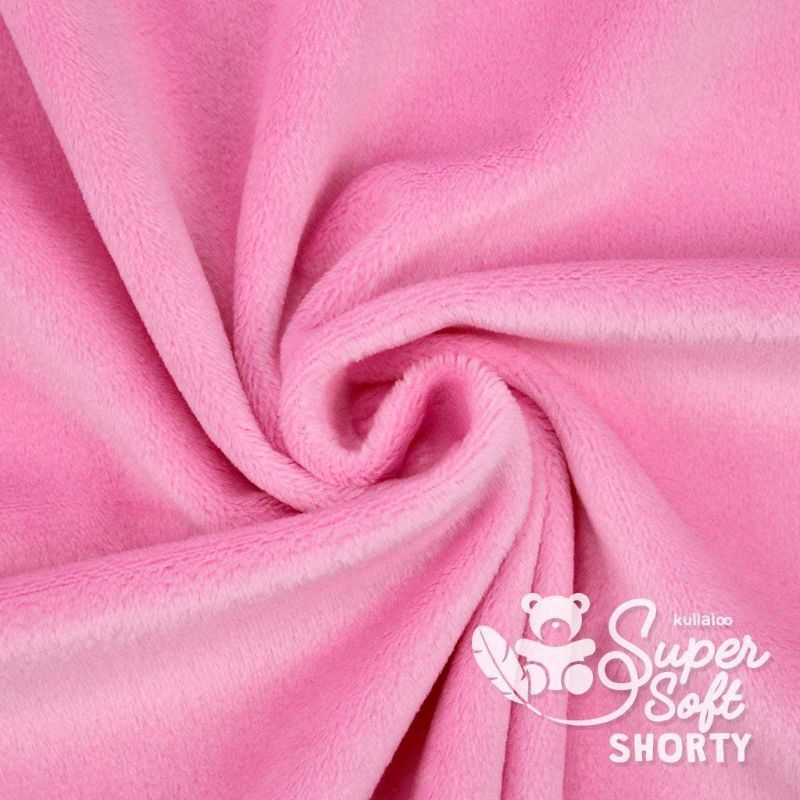 Coupon Tissu Peluche Minky SHORTY rose