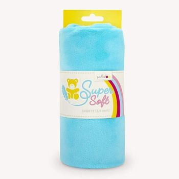 Coupon Tissu Peluche Minky SHORTY turquoise