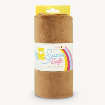 Coupon Tissu Peluche Minky SHORTY marron