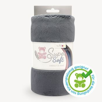 Coupon Tissu Peluche SuperSoft SNUGLY gris cendré