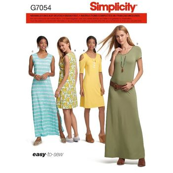 Patron Simplicity 7054 Robes simples