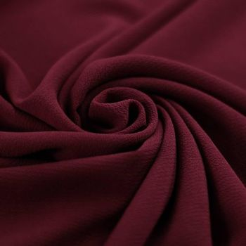 Tissu Bulle de Mousseline Stretch Bordeaux