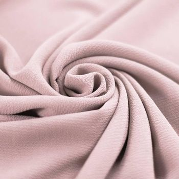 Tissu Bulle de Mousseline Stretch Rose