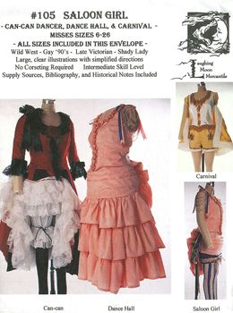 Patron Laughing Moon 105 Costume femme Saloon Can-Can danseuse burlesque