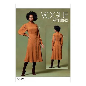 Patron Vogue 1633 Robe femme fluide manches Bishop gigot