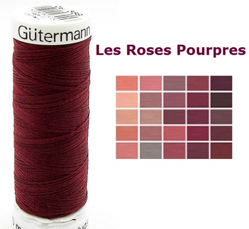 Gutermann Col 30 m 369 Top Stitch Heavy Duty Polyester Fil à coudre rouge