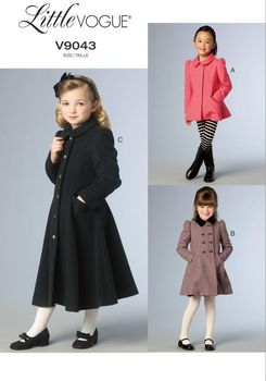 Patron Vogue 9043 Veste et Manteau fille princesse