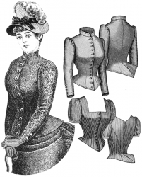 Truly Victorian TV460 Corsage Cuirasse 1885