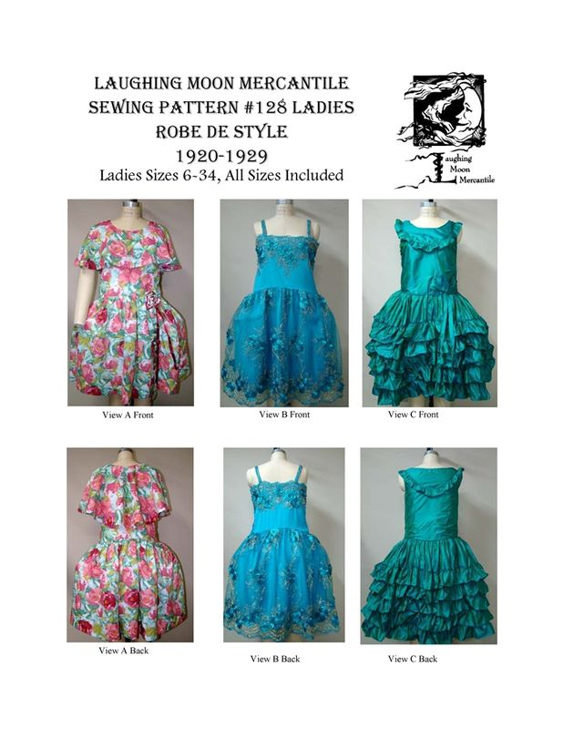 Patron Laughing Moon 128 Robes femme de style Charleston