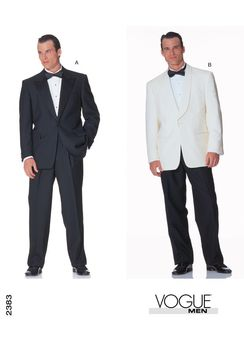 Patron Vogue 2383 Costume Smoking homme Veste Tuxedo et pantalon