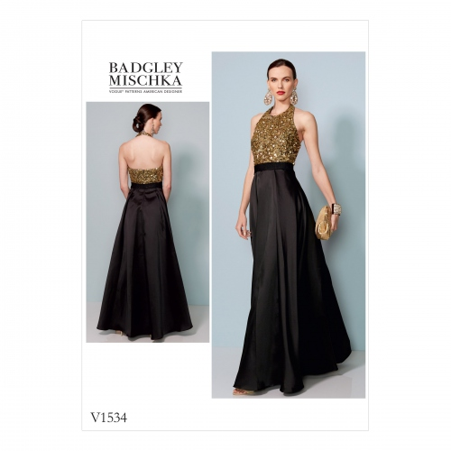Patron de robe de soiree vogue
