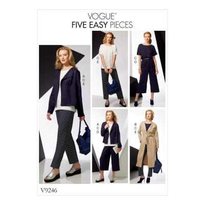 Patron Vogue 9246 Ensemble tenue femme Top, Pantalon, Veste, Manteau
