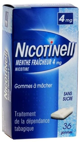 Nicotinell menthe fraiche 4 mg