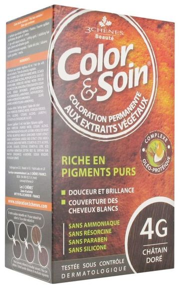 3 chênes Coloration chatain doré (4G)