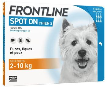 Frontline spot-on chiens S 2-10 kg