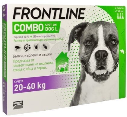 Frontline combo spot-on chiens L 20-40 kg ( 6 pipettes )