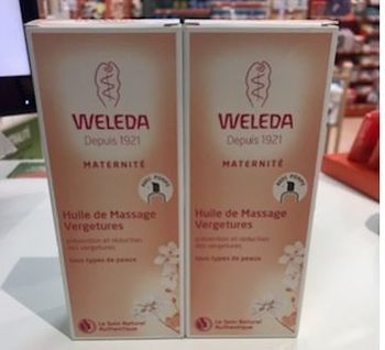 Weleda maternité huile de massage vergetures lot de 2