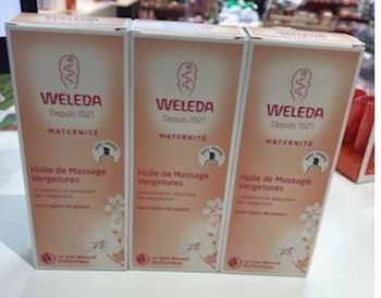 Weleda maternité huile de massage vergetures lot de 3