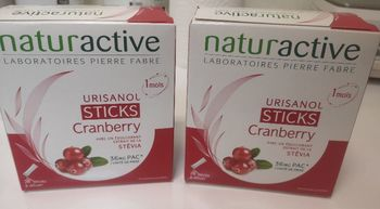 Naturactive urisanol cranberry 28 sticks lot x2