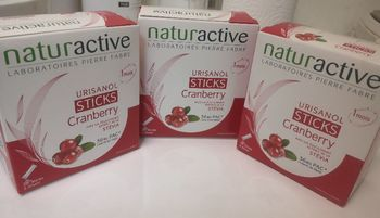 Naturactive  urisanol cranberry 28 sticks lot x3