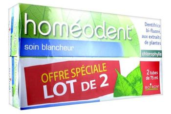 Boiron homéodent soin blancheur chlorophylle 2x75 ml