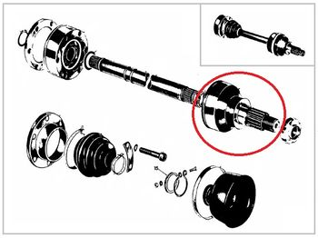Drive shaft Lancia Fulvia serie 2 and 3