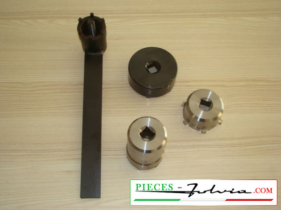 Complete set of keys for hubs and wheel bearings Lancia Fulvia serie 1