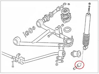 Silent block of shock absorber Lancia Fulvia all models