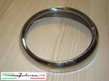 Left headlight rim in inox Lancia Fulvia FANALONE