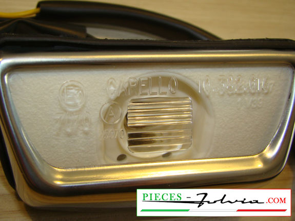 Full rear license plate light Lancia Fulvia series 2 and 3