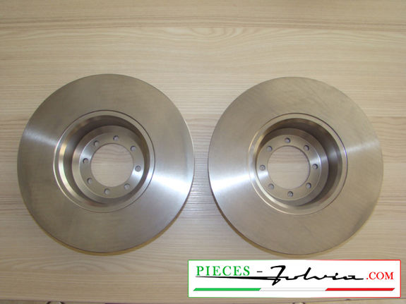 Front brake discs set Lancia Fulvia serie 2 and 3 all models