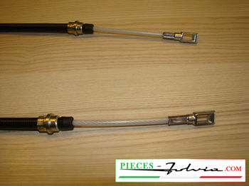 Hand brake cable (rectangular ring tips) Lancia Fulvia serie 2 and 3 all models