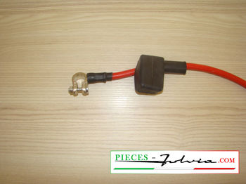 POSITIVE pole battery cable, RED color Lancia Fulvia all models