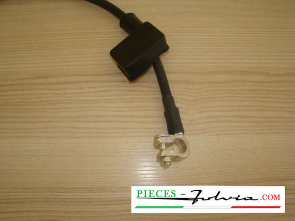 NEGATIVE pole battery cable, BLACK color Lancia Fulvia all models