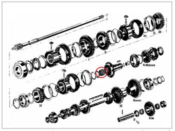 Bearing wheel drive shaft primary gearbox Lancia Fulvia all models