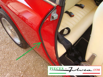 Kit for ribs doors REAR side Lancia Fulvia coupe all models
