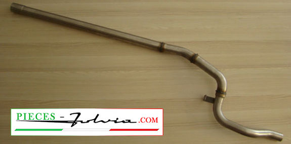 Central exhaust tube inox Gr3 without silencer Lancia Fulvia coupe serie 2 and 3
