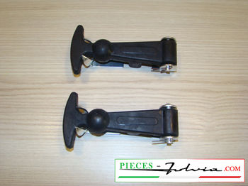 "Pair of ""vintage"" rubber hood fasteners 120 mm"