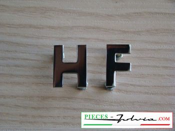 "Script ""H F"" chrome for Lancia Fulvia"