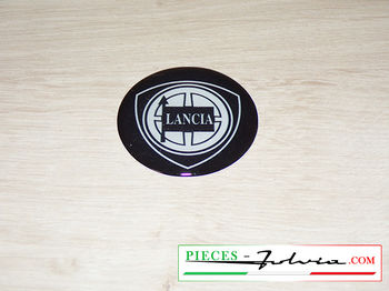 "Logo ""Lancia"" adhesive, width 40mm, thickness 3mm"