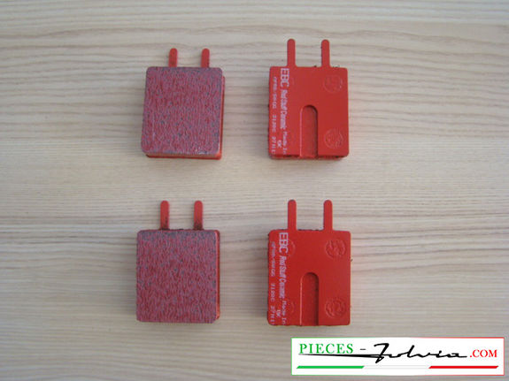 Set of 4 brakes pad EBC BRAKES REDSTUFF for lancia Fulvia serie 1 all models