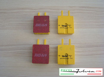 Set of 4 brakes pad EBC BRAKES YELLOWSTUFF for lancia Fulvia serie 1 all models